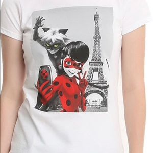 Miraculous Ladybug & Cat Noir Photo Girls T-Shirt